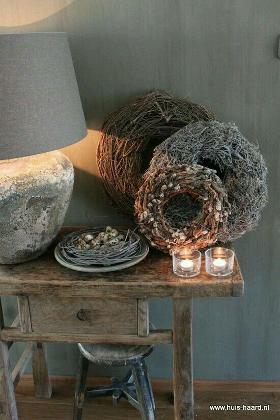 1000 images about rustic on pinterest grey candles and pots - Deco eetkamer oud ...