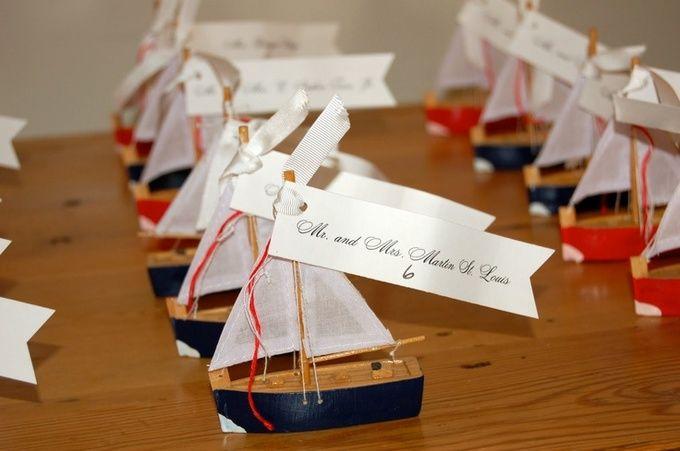 ヨットのおもちゃで♪ <結婚式エスコートカード・席札>夏のハワイアンなものまとめ一覧♪