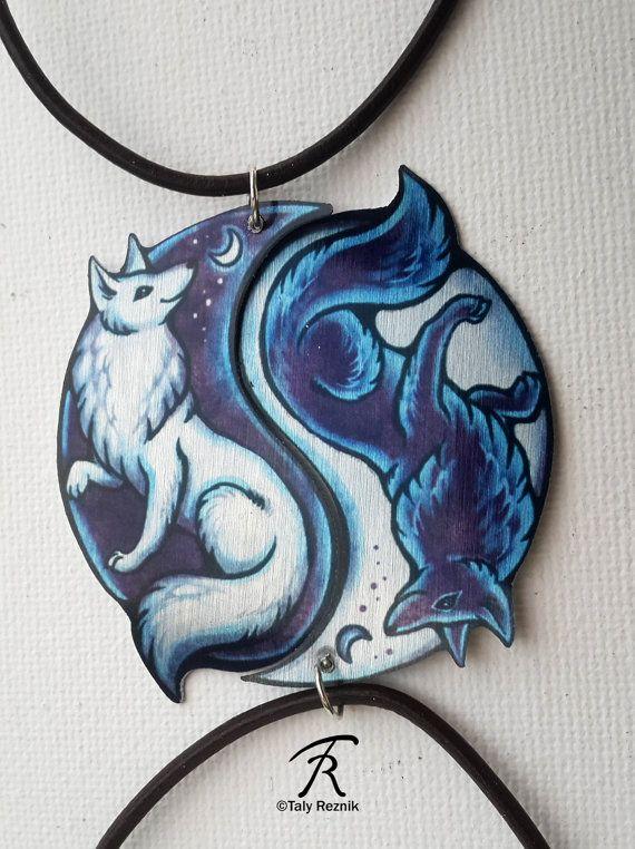 Hey, I found this really awesome Etsy listing at https://www.etsy.com/listing/263640206/black-white-yin-yang-fox-vulpine