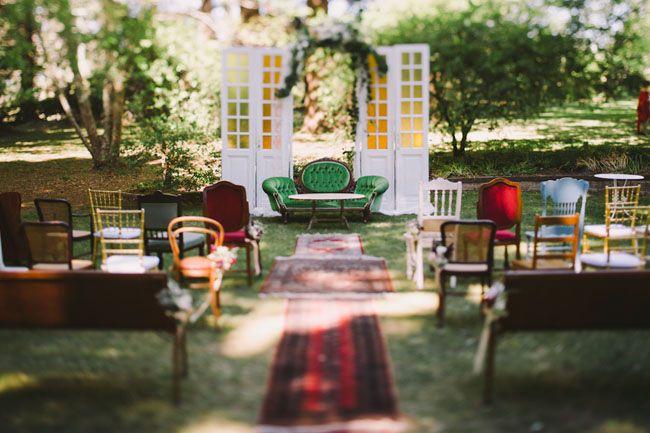 vintage ceremony decor