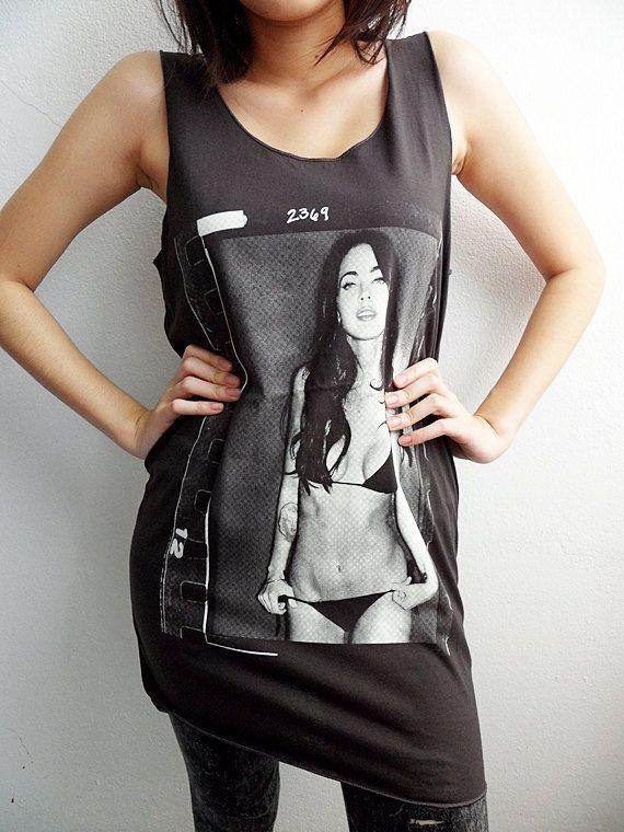Megan Fox Sexy in Bikini Tank Top Girl Tunic by InfinityTankTop
