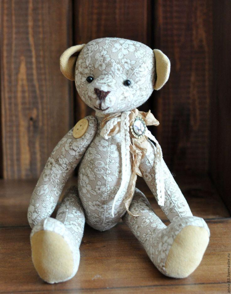 Купить Лучший друг - бежевый, мишка, медведь, медвежонок, лучшему другу, подарок другу, лён