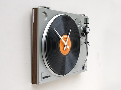 very cool: Music, Record Players, Ideas, Time, Stuff, Turntable Clock, Wall Clocks, Design