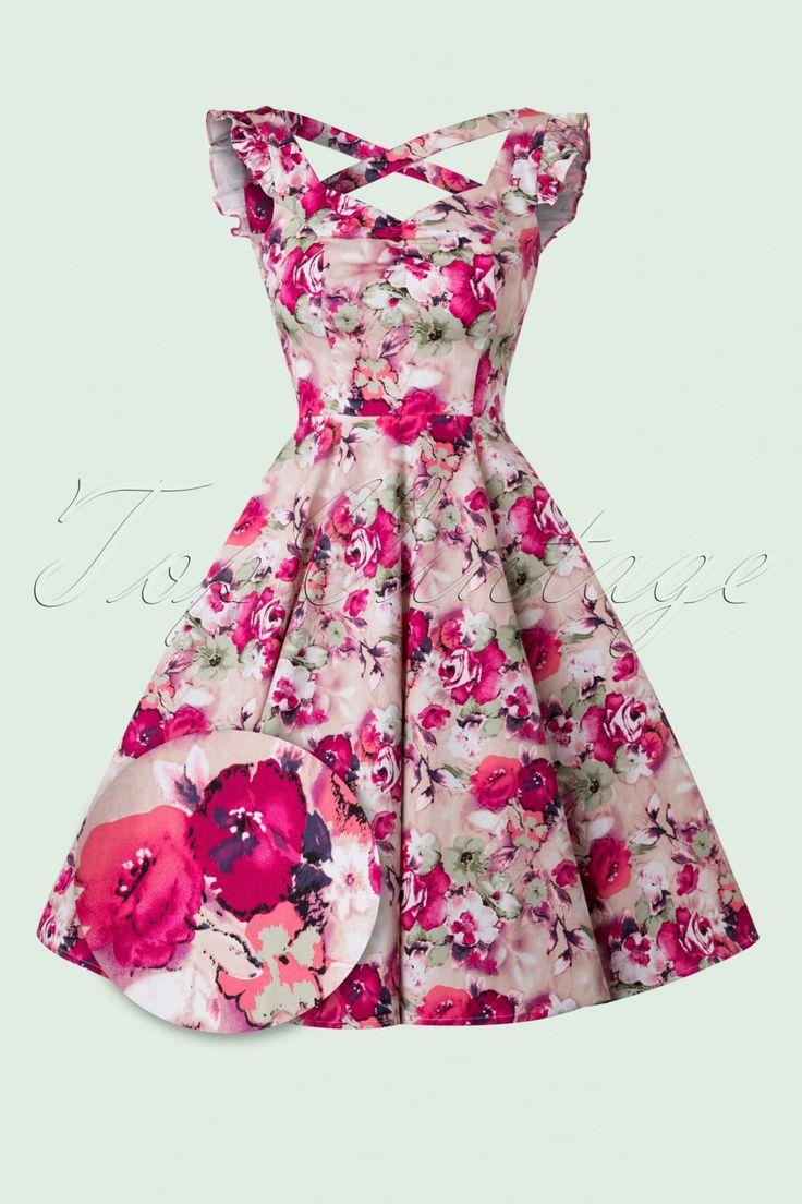 50s Samantha Sun Swing Dress in Pink