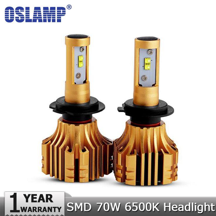 Oslamp H4 H7 H11 9005 9006 H13 H1 SMD CREE Chips 70W Car LED Headlight Bulbs 7000LM 6500K 12v 24v Led Auto Headlamp Headlights   Price: 25.73 USD