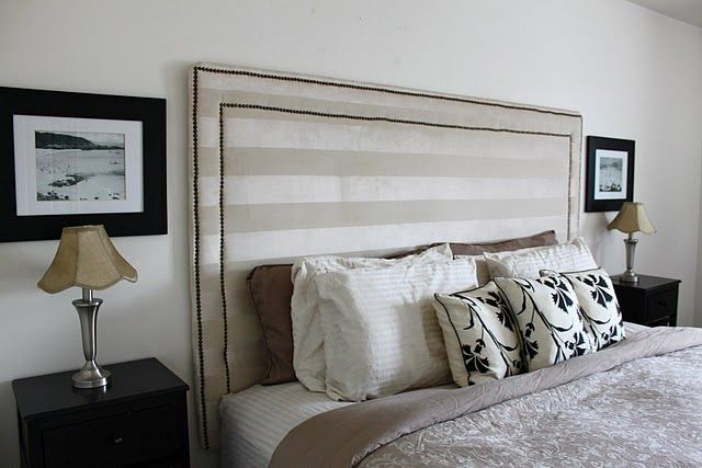 Upholstered Headboard With Nail Head Trim Diy Headboards Nailhead And