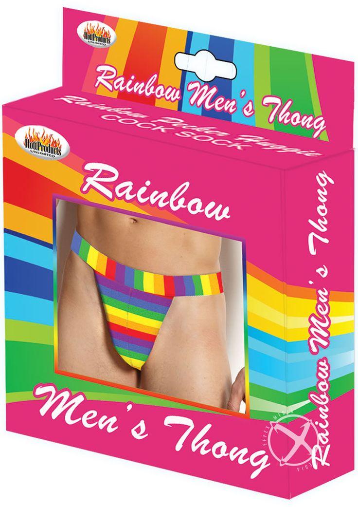 Buy Rainbow Men`s Thong online cheap. SALE! $9.49