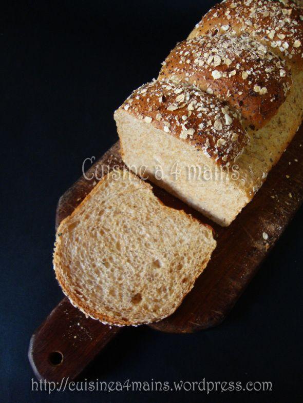 Pain de mie à la farine  de blé complète : The recette!! | Cuisine à 4 mains