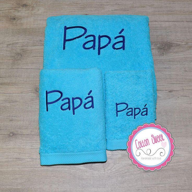 Toallas personalizadas para hombre con el nombre bordado - Toallas infantiles personalizadas ...