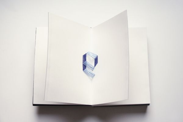 Typography Book, embroidered font