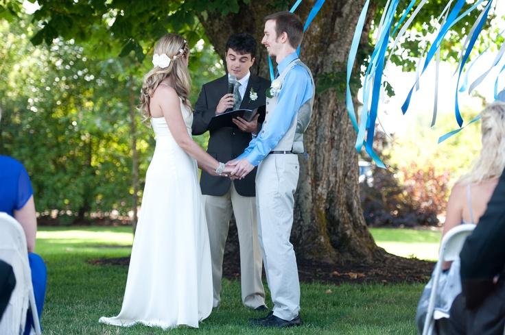 Ceremony under the ribbon tree.  Photo by Alexandra Roberts.: Photo