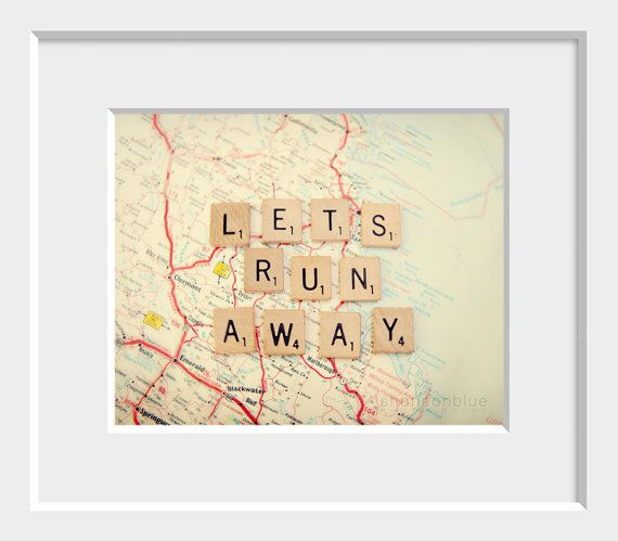 travel photography typography / map wanderlust by shannonpix
