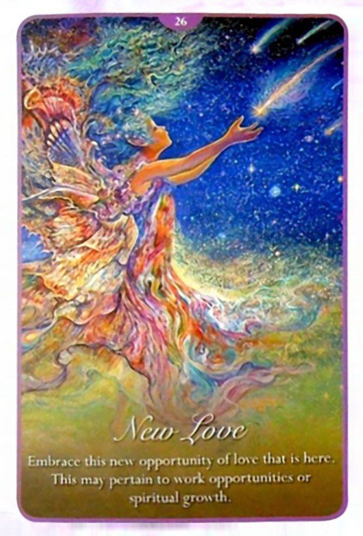 """26 New Love"" Oracle Cards Whispers of Love par Josephine Wall and Angela Hartfield"