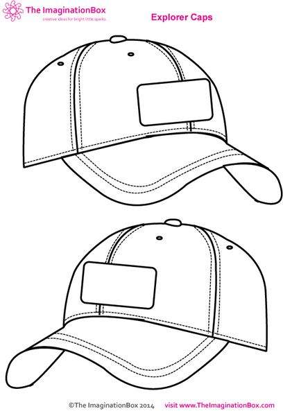 free template for your child to design their own baseball cap