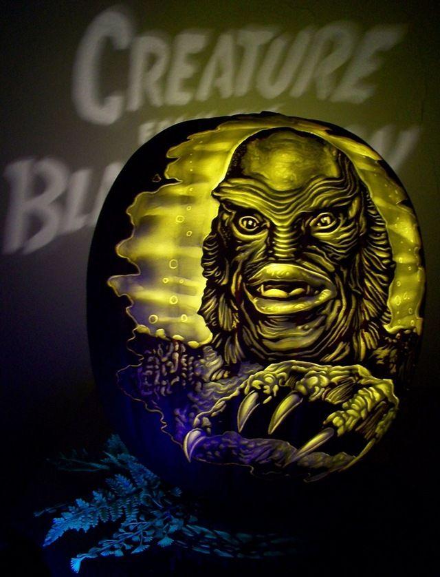 Fantastic creature from the black lagoon pumpkin carvings