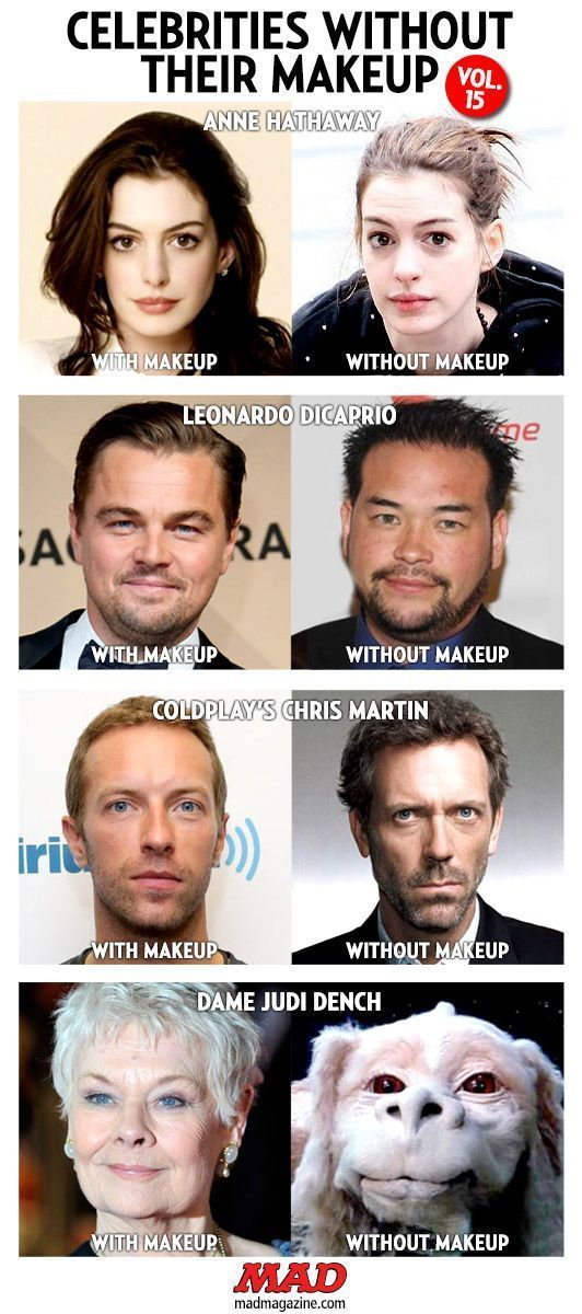 MAD Magazine Idiotical Originals Celebrities Without Their Makeup Anne Hathaw – Coldplay Funny – Coldplay Funny meme –