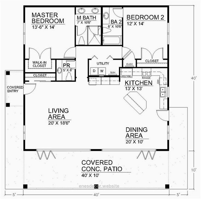 Spacious Open Floor Plan House Plans With The Cozy Interior Small House Design Enne S Decor Open Floor House Plans Small House Design Bedroom Floor Plans