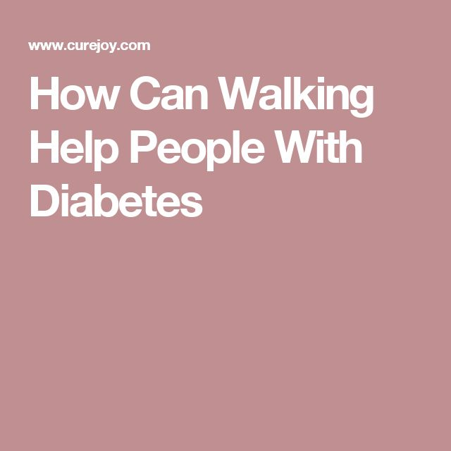 How Can Walking Help People With Diabetes