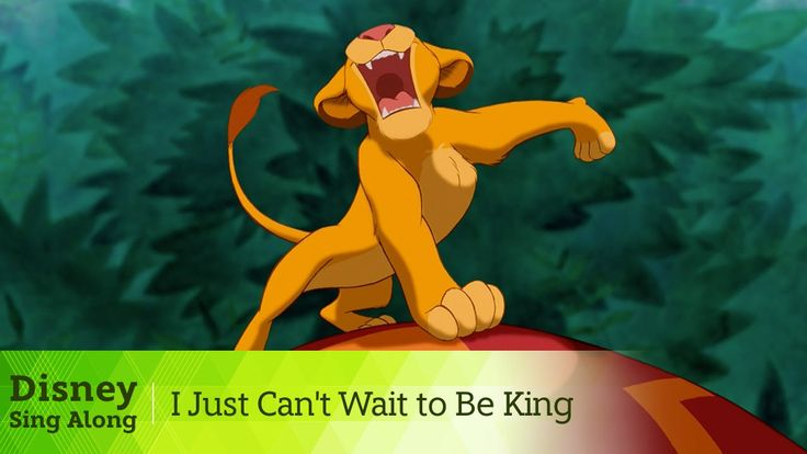 """The Lion King Lyric Video - """"I Just Can't Wait to Be King"""" Sing Along. Classic!"""
