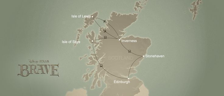 Travel to Scotland see historic castles that inspired Pixar's Brave with our Scotland vacation package.