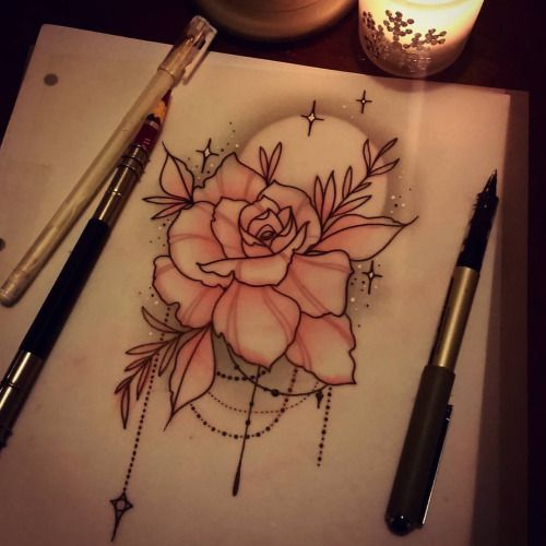 1000 ideas about neo traditional on pinterest for Neo traditional rose tattoo