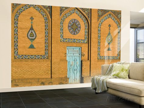 Exterior Wall at Friday Mosque or Masjet-Ejam Wall Mural – Large by Jane Sweeney at AllPosters.com