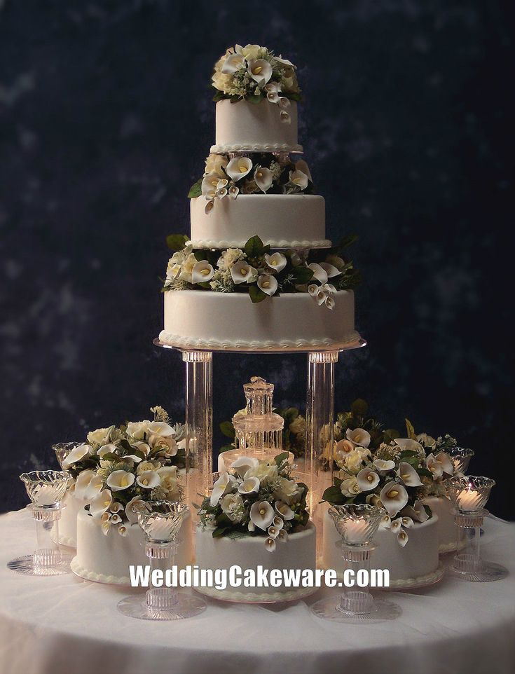 Wedding Cakes with Fountains | Wedding Cake Stands & Plates Wedding Supplies Home & Garden