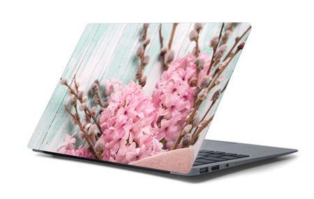 Naklejka na laptopa - Pastelowe kwiaty 4656