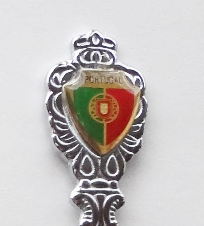 Collector Souvenir Spoon Portugal Flag Coat of Arms Emblem