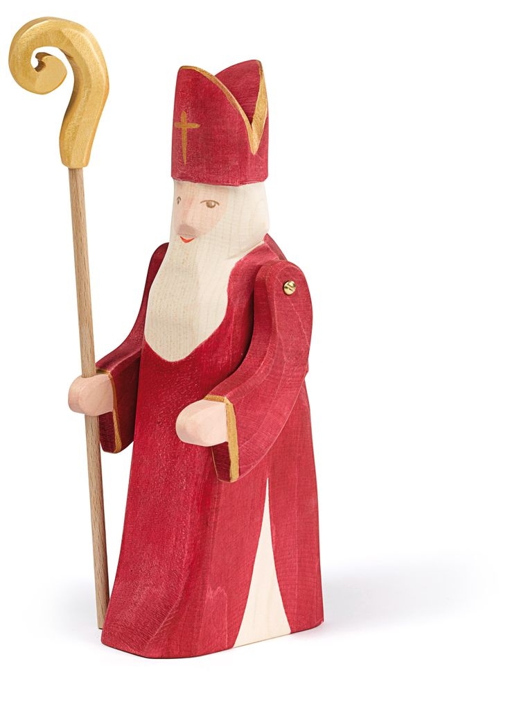 Unser neuer St. Nikolaus mit Stab