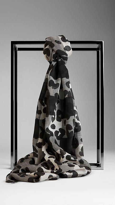 Check Animal Print Wool Silk Scarf | Burberry...Can I justify this as a post-boards treat to myself?