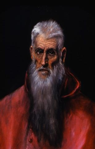 Detail of St. Jerome by El Greco