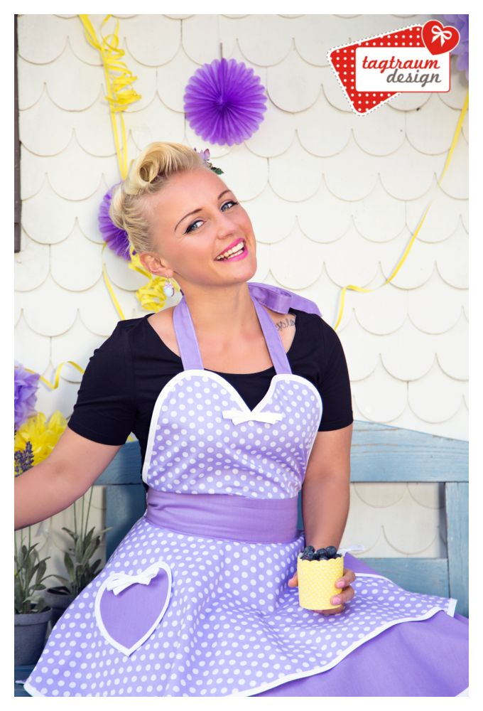 Peggy Sue ♥ Sweet Lavender ♥ Apron  www.tagtraum-design.com