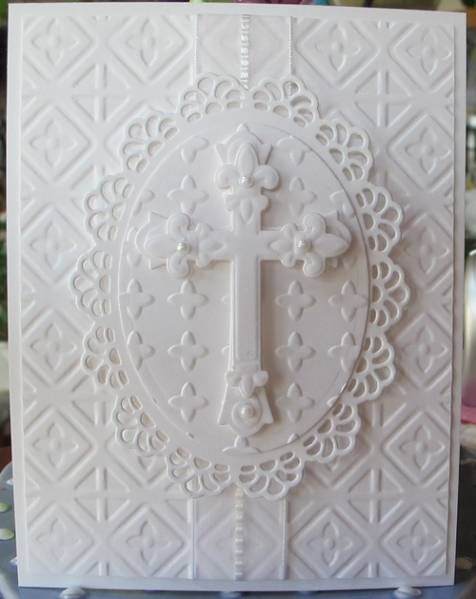 White Lacy Cross by Susie B - Cards and Paper Crafts at Splitcoaststampers