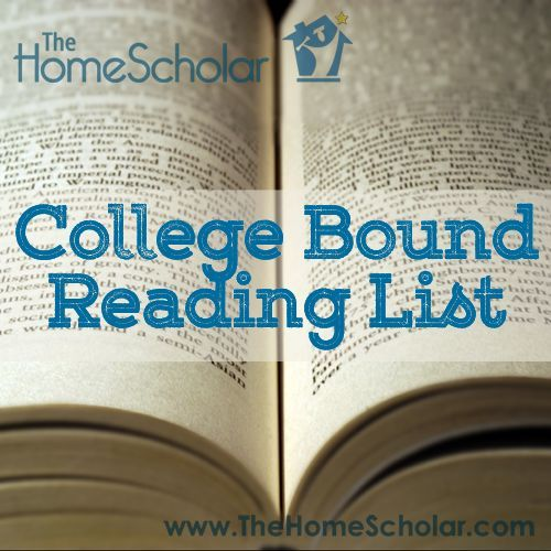 Recommended reading list for college-bound homeschooled high school students. Includes American literature, world literature, and popular literature. | The Home Scholar via @TheHomeScholar