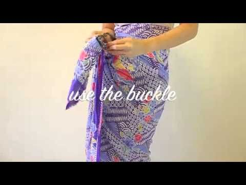 How to wear Peranakan sarong rayon with buckle (+playlist)