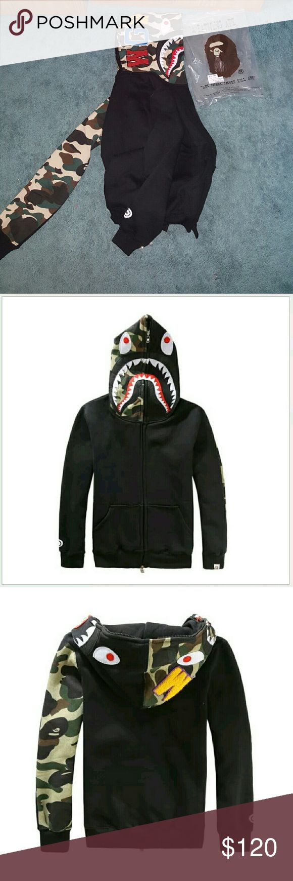 A Bathing Ape Bape Hoodie WGM NEW Brand new With tags With authentic bag Very warm and soft :) Bape Sweaters Zip Up