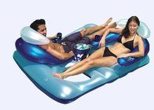 Venta caliente 2 personas inflable colchón de aire del pvc con pillow/flotador de agua