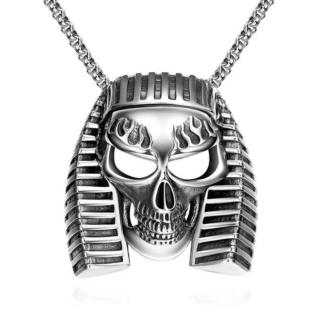 2016 Новая Мода панк нержавеющей стали 316L Египет Фараон последний король ожерелья и подвески Для Женщины Мужчины Модные Африканские Украшения