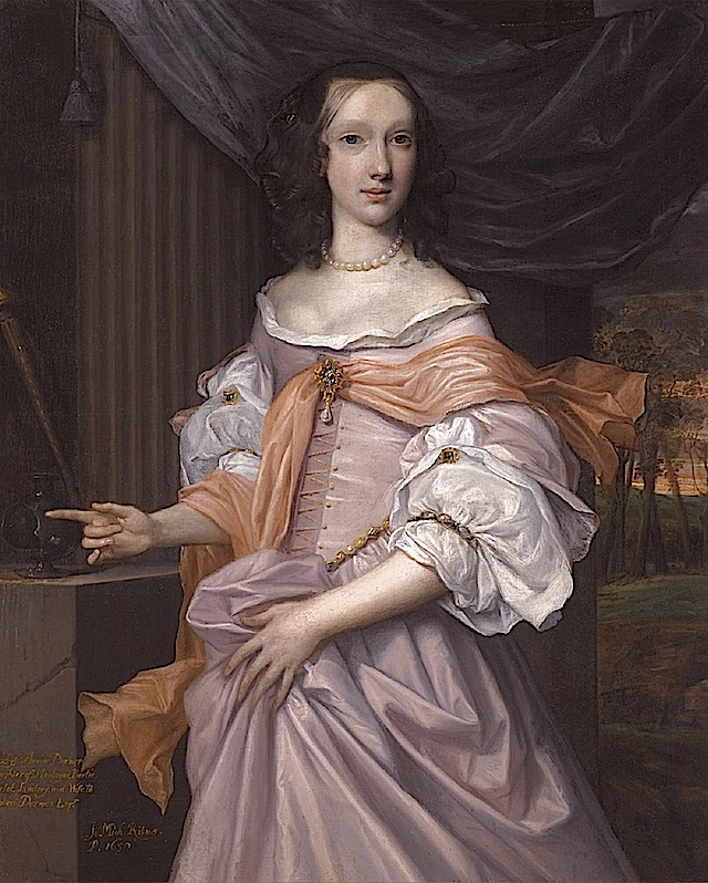 1659 Lady Catherine Dormer by John Michael Wright (private collection) replacement