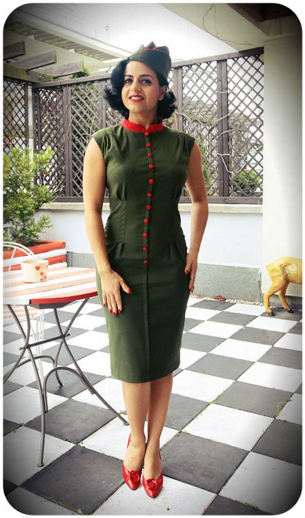 Military inspired Anastassia Dress http://www.raspberryheels.com/shop/produkt,en,dresses,sukienka-anastassia-green.html