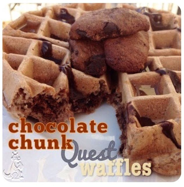 Chocolate Chunk Quest Waffles
