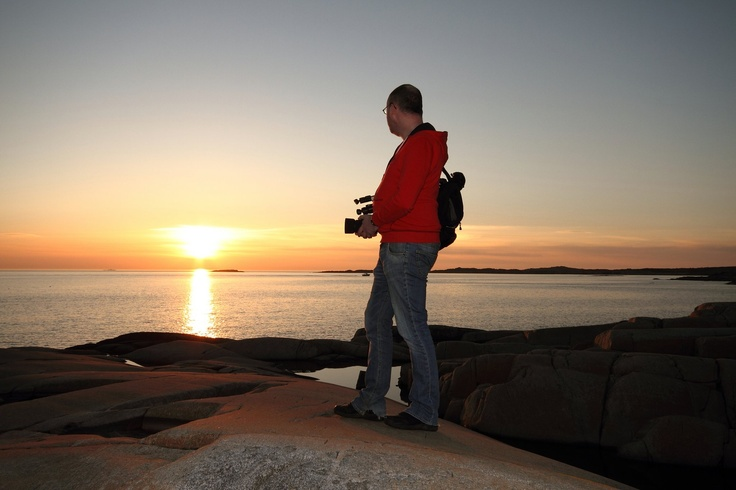 My brother in the sunset on the west coast of Sweden (Outside Kungsbacka/Mönster)