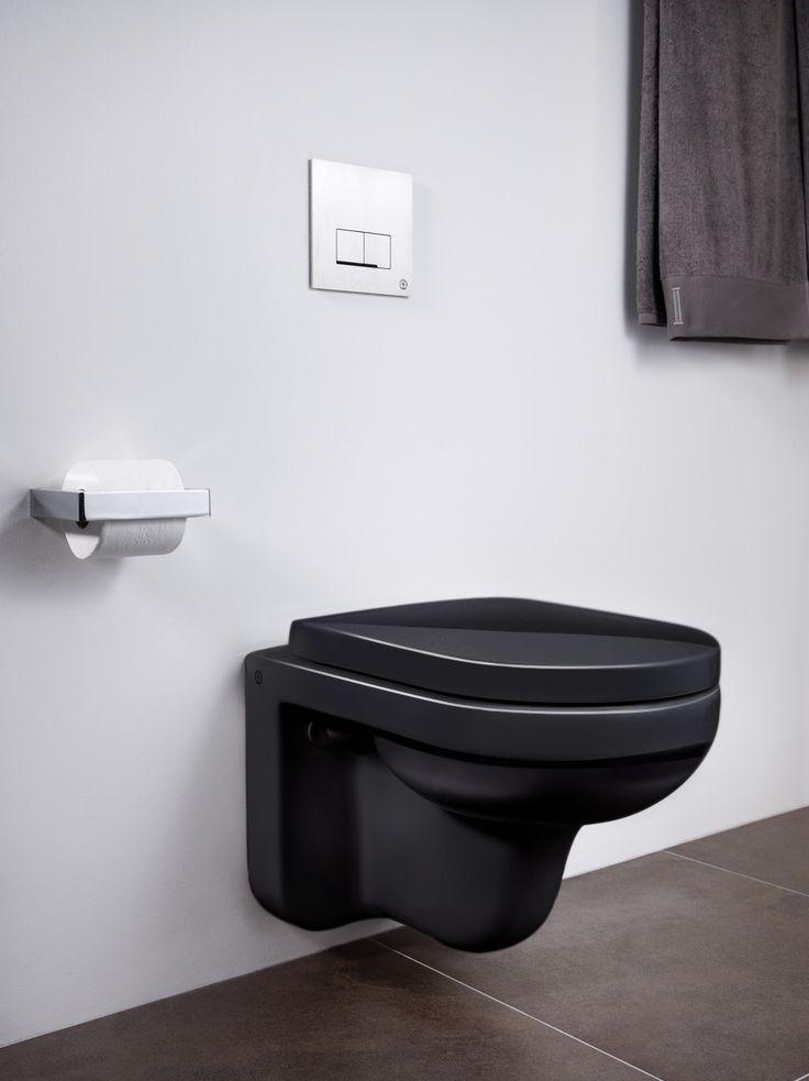 Vägghängd toalett Artic 4330 i svart utförande.