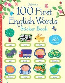 100 First English words sticker book Bookids