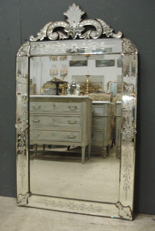 Large 19th Century Antique Venetian Mirror from www.jasperjacks.com