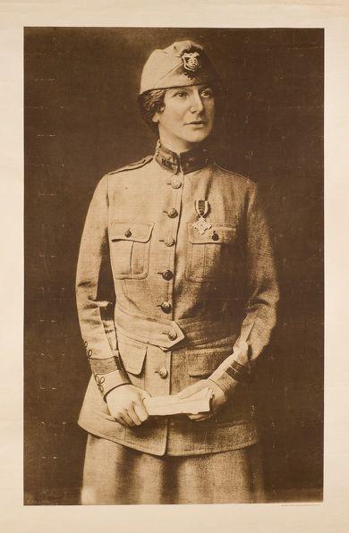 #Ira L. Hill #Evangeline #Booth - #Salvation #Army, circa 1919  #Lithograph published by Sackett & Wilhelms Corp, copyright Ira L. Hill #art #modernart #war #portrait #women #military #llfa #modern