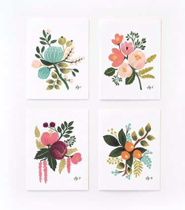 Take these gorgeous calendars from Rifle Paper Co. & frame them to display as a gallery wall - idea from an HGTV Magazine reader. <3!
