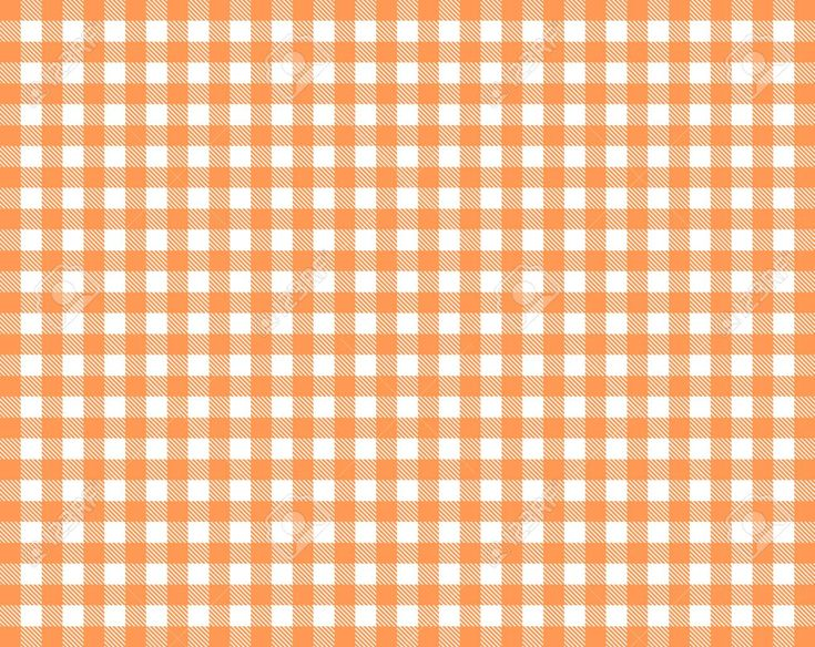 Tablecloth background texture checkered red orange and