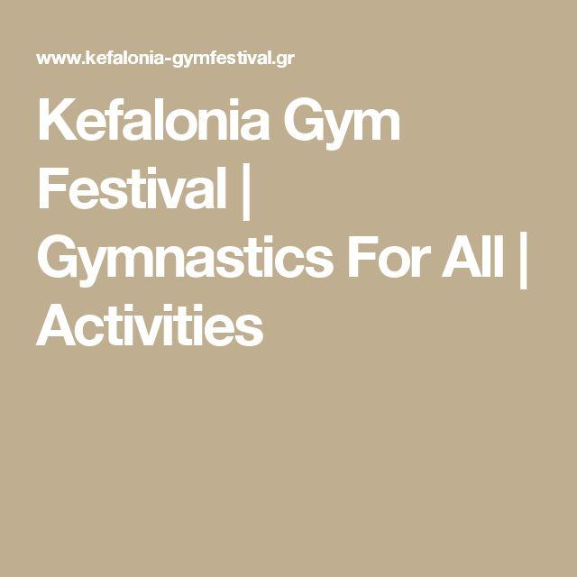 Kefalonia Gym Festival | Gymnastics For All | Activities